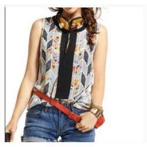 CAbi Sleeveless Tunic Floral Style #249 Sz M